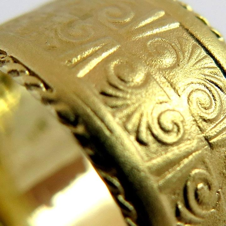 טבעת נישואין בסגנון מצרי