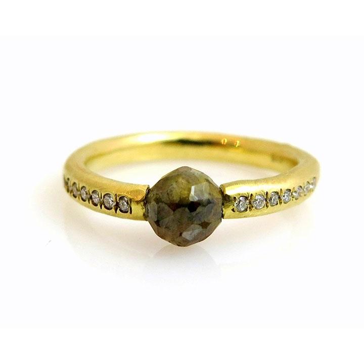 טבעת יהלום בחיתוך Rose
