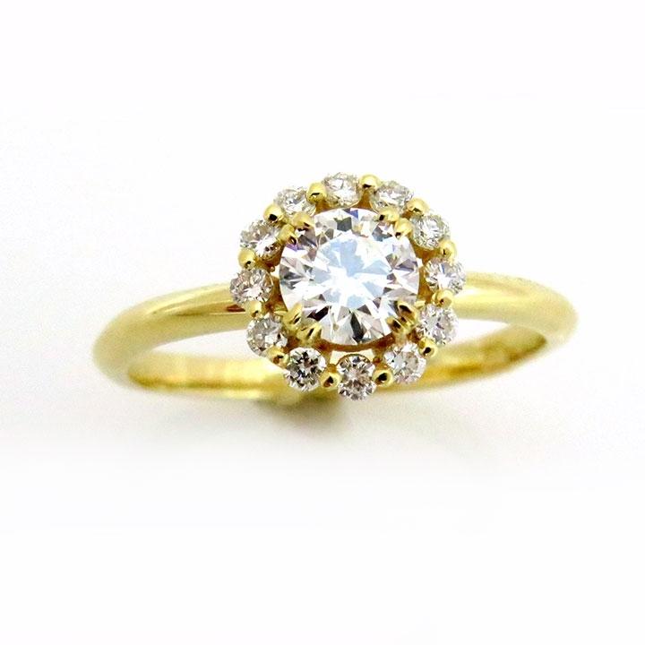 טבעת יהלום עגולה