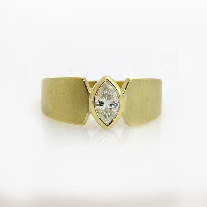 טבעת יהלום מרקיז